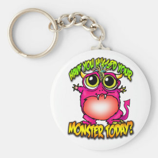 have you hugged your monster today? basic round button keychain