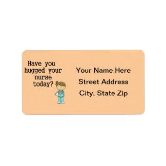 Have You Hugged Your Nurse Address Label