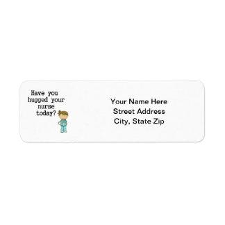Have You Hugged Your Nurse Return Address Label