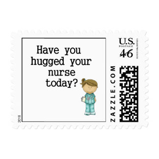 Have You Hugged Your Nurse Postage Stamps