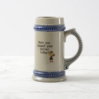 Have You Hugged Your Server Coffee Mugs