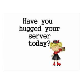 Have You Hugged Your Server Postcard