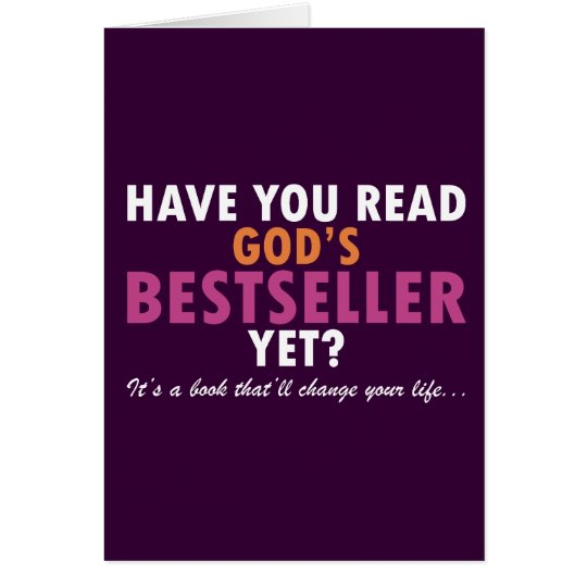Have You Read God's Bestseller Yet Card
