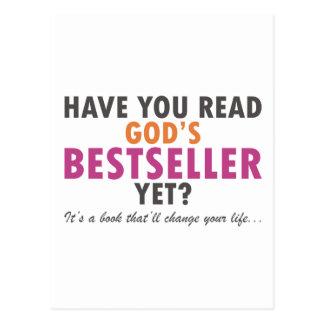 Have You Read God's Bestseller Yet Postcard