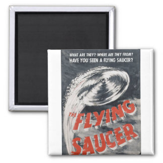 Have you seen a Flying Saucer ? 2 Inch Square Magnet