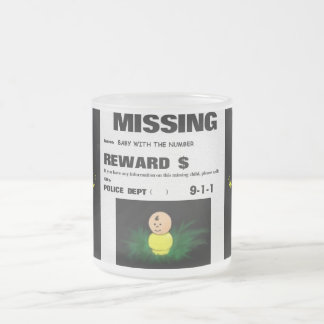 Have you seen me? frosted glass coffee mug