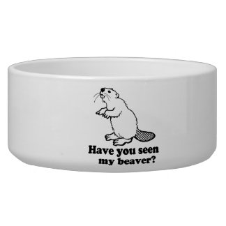 HAVE YOU SEEN MY BEAVER? DOG BOWL