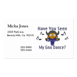 Have You Seen My Gnu Dance Business Card