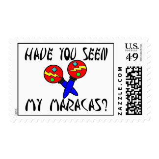 Have You Seen My Maracas Postage Stamps