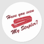 Have you seen my stapler? sticker