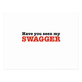 Have You Seen My Swagger (big red edition) Postcard