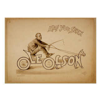Have you seen Ole Olson Vintage Poster