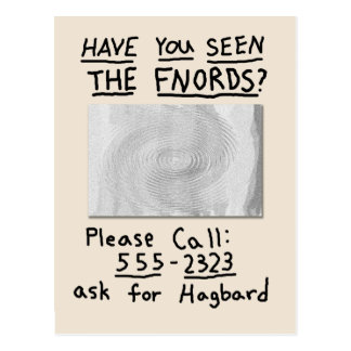 Have You Seen the FNORDS? Postcard