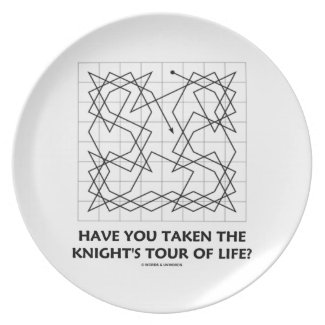 Have You Taken The Knight's Tour Of Life? (Open) Party Plates