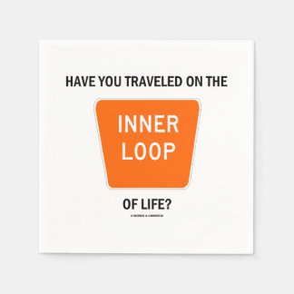 Have You Traveled On The Inner Loop Of Life? Standard Cocktail Napkin