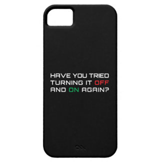Have you tried turning it off and on again iPhone 5 cover