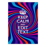 Have Your Keep Calm Saying on Multicolored Swirl Card