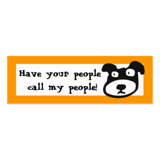 Have your people  call my people Double-Sided mini business cards (Pack of 20)
