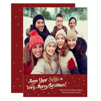 Have Your Selfie Very Merry Christmas Card Red