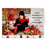 """""""Have Yourself a Feathered Little Christmas"""" Stationery Note Card"""