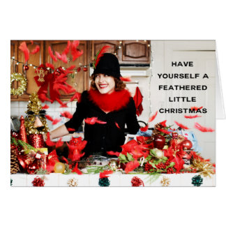 """Have Yourself a Feathered Little Christmas"" Card"