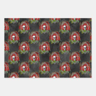 Have Yourself a Gothic Little Christmas Wrapping Paper Sheets