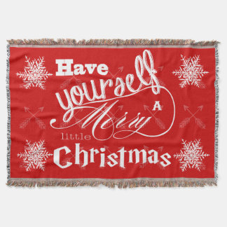 Have Yourself a Merry Little Christmas Arrows Throw Blanket