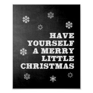 Have Yourself A Merry Little Christmas Art Poster