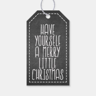 Have Yourself a Merry Little Christmas chalkboard Gift Tags