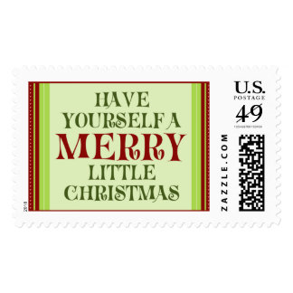 Have Yourself  a Merry Little Christmas (large) Postage Stamps