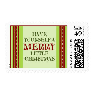 Have Yourself  a Merry Little Christmas (medium) Postage