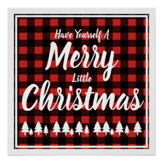 Have Yourself A Merry Little Christmas Plaid Poster