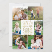 Have Yourself a Merry Little Christmas Six Picture Holiday Card