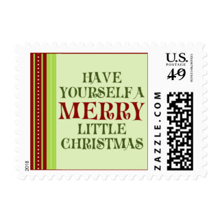 Have Yourself  a Merry Little Christmas (small) Postage