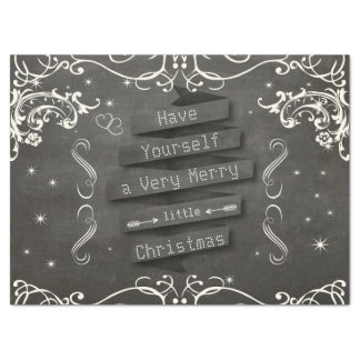 """Have Yourself a Merry Little Christmas Stars 17"""" X 23"""" Tissue Paper"""