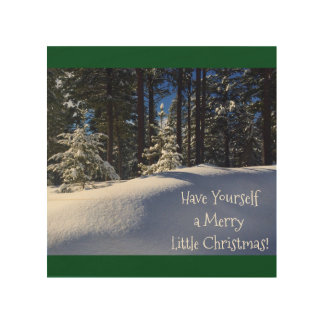 Have Yourself a Merry little Christmas Wall Panel. Wood Wall Art