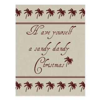 Have Yourself A Sandy Dandy Christmas Postcard