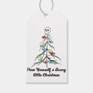 Have yourself a scary little Christmas! Gift Tags