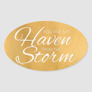 Haven from the Storm Oval Sticker