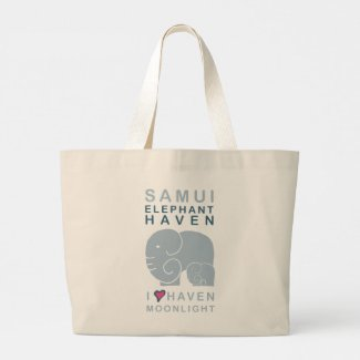 Haven Moonlight baby Elephant giant tote