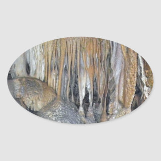 Haven of Deities Spectacular Cavern Forms Oval Sticker