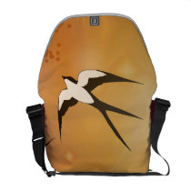 Haven Song - Flying Swallow Courier Bag
