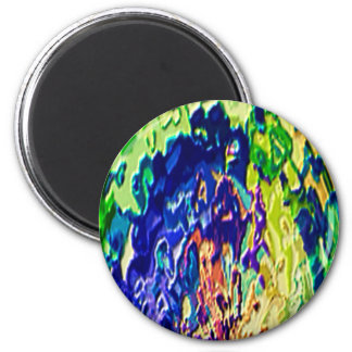 Havenly Blue Flame Spiritual Experience V1 2 Inch Round Magnet