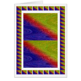 Havenly Rainbow Waves  - Oriental Goodluck Card