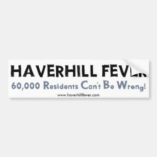 Haverhill Fever bumper sticker