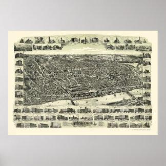 Haverhill, MA Panoramic Map - 1893 Print