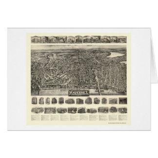 Haverhill, MA Panoramic Map - 1914 Greeting Card