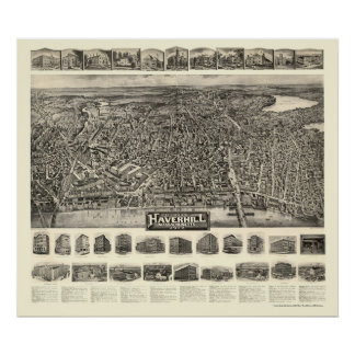 Haverhill, MA Panoramic Map - 1914 Posters