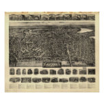 Haverhill Mass. 1914 Antique Panoramic Map Posters
