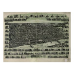 Haverhill Mass. 1915 Antique Panoramic Map Posters